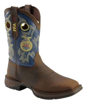 Durango Lady Rebel FFA Embroidered Cowgirl Boots - Square Toe, Brown, hi-res