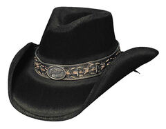 Bullhide Billy The Kid Premium Wool Cowboy Hat, Black, hi-res