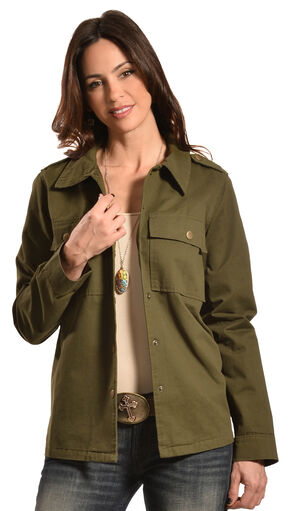 Boho Jane Women's Patch Jane Jacket, Olive, hi-res