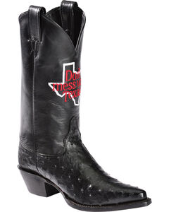 """Justin """"Don't Mess with Texas"""" Full Quill Ostrich Cowgirl Boots - Pointed Toe, , hi-res"""