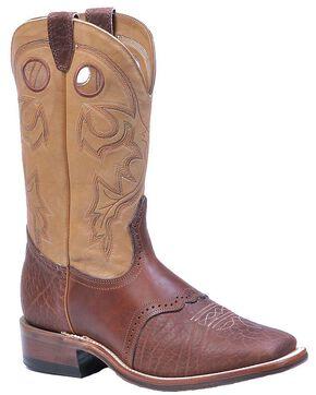 Boulet Saddle Vamp Cowboy Boots - Square Toe, Sand, hi-res