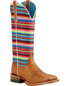 Ariat Gringa Natural Lizard Print Cowgirl Boots - Square Toe, , hi-res