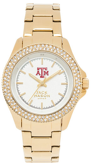 Jack Mason Women's Texas A&M Glitz Sport Bracelet Watch, Gold, hi-res