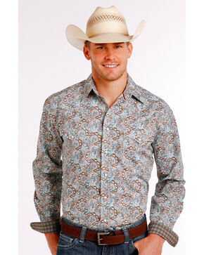 Panhandle Slim Men's Multi Casalotti Vintage Print Long Sleeve Shirt, Multi, hi-res