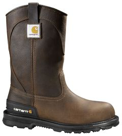 Carhartt Unlined Wellington Pull-On Work Boots - Round Toe, , hi-res