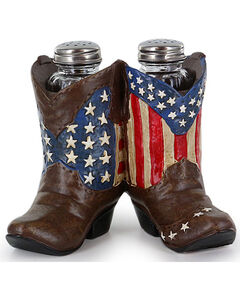 BB Ranch Americana Western Boot Salt and Pepper Holder, Red/white/blue, hi-res