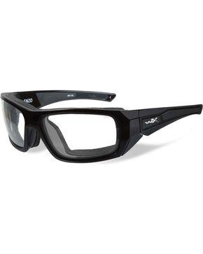 Wiley X Men's Enzo Climate Control Clear Lens Sunglasses , Black, hi-res