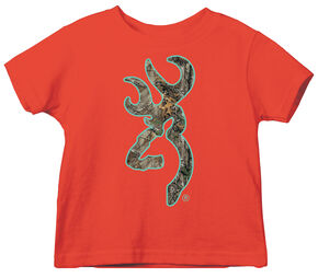 Browning Toddler Boys' Realtree Xtra Buckmark Tee, Orange, hi-res