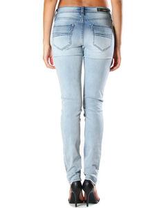 Grace in LA Women's Faded Moto Jeans - Skinny , , hi-res