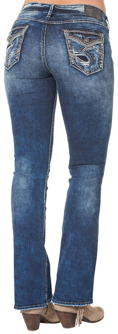 Silver Women's Elyse Mid Dark Wash Bootcut Jeans - Plus Size, , hi-res