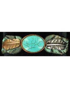 Blazin Roxx Turquoise Feather Stretch Bracelet, , hi-res