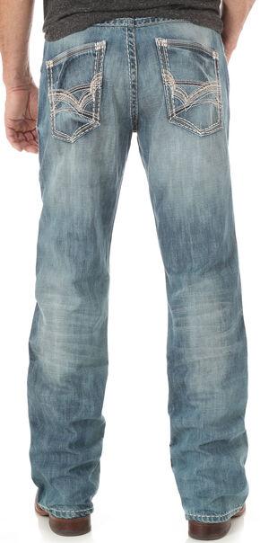 Wrangler Rock 47 Men's Tune Slim Bootcut Jeans, Indigo, hi-res