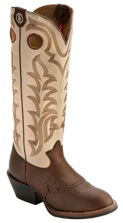 Tony Lama 3R Fancy Buckaroo Cowboy Boots - Round Toe, , hi-res