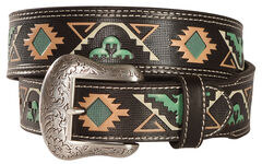 "Nocona 1 7/8"" 1 1/2"" Tribal Belt, , hi-res"