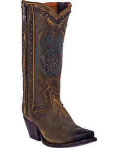 Dan Post Women's Heartbreaker Zipper Cowgirl Boots - Snip Toe, , hi-res