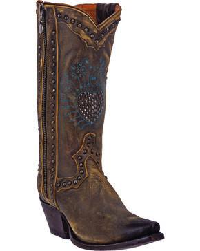 Dan Post Women's Heartbreaker Zipper Cowgirl Boots - Snip Toe, Vintage, hi-res