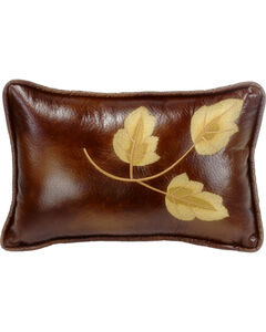 HiEnd Accents Highland Lodge Embroidered Leaf Pillow, , hi-res