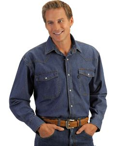 Key Western Denim Work Shirt, , hi-res