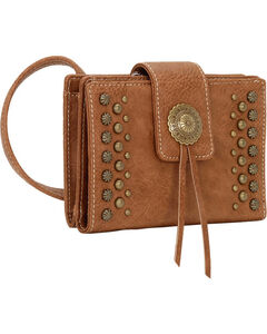 Bandana by American West Game Girl Organized Concho and Stud Crossbody Bag, , hi-res