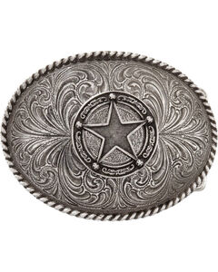 Montana Silversmiths Star Badge Buckle, , hi-res