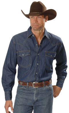 Ely Denim Western Shirt, , hi-res