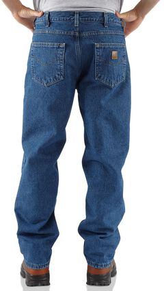 Carhartt Fleece-Lined Relaxed Fit Straight Leg Work Jeans, , hi-res