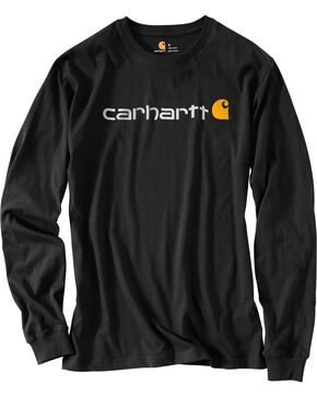 Carhartt Signature Logo Sleeve Knit T-Shirt - Big & Tall, Black, hi-res