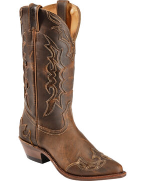 Boulet Cowgirl Spice Cowgirl Boots - Pointed Toe, Brown, hi-res