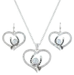 Montana Silversmiths Blacksmith's Treasure Heart Jewelry Set , , hi-res