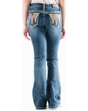 Grace in LA Girls' (7-16) Realtree Embroidered Jeans - Boot Cut , Indigo, hi-res