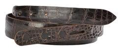 Lucchese Men's Cigar Alligator Leather Belt, , hi-res