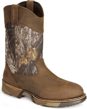 Rocky Aztec Waterproof Pull-on Mossy Oak Break-Up® Camo Boots, Brown, hi-res
