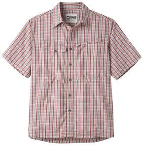 Mountain Khakis Men's Trail Creek Short Sleeve Shirt, Red, hi-res