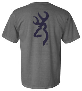 Browning Men's Grey Buckmark Short Sleeve Tee, Grey, hi-res