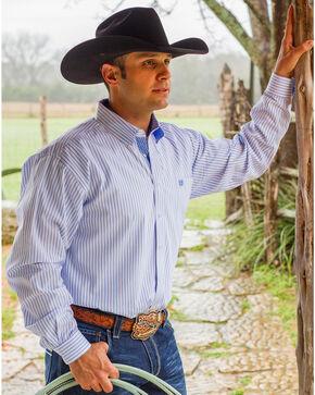 Cinch Men's White Long Sleeve Western Shirt, White, hi-res