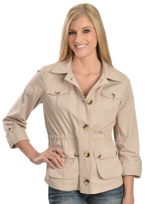 Tantrums Women's Stone Cotton Jacket, Stone, hi-res