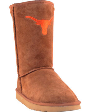 Gameday Boots Women's University of Texas Lambskin Boots, Tan, hi-res
