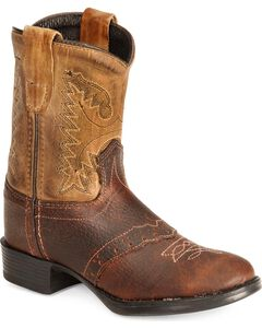 Old West Toddler Boys' Ultra Flex Thunder Cowboy Boot - Round Toe, , hi-res