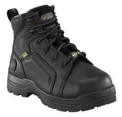 """Rockport Women's More Energy Black 6"""" Lace-Up Work Boots - Composition Toe, , hi-res"""
