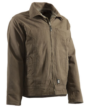 Berne Hickory Washed Aviator Jacket - Tall 2XT, Brown, hi-res