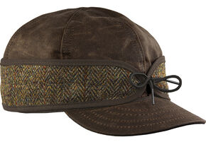 Stormy Kromer Men's Brown Harris Tweed Waxed Cotton Cap, Multi, hi-res