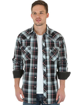 Wrangler 20X Men's Red & Black Plaid Shirt, Black, hi-res