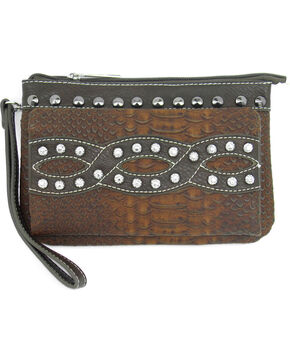 Savana Brown Overlay Crossbody Bag with Wallet, Brown, hi-res
