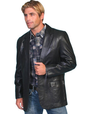 Scully Lamb Leather Blazer - Tall, Black, hi-res