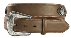 Nocona Leather Overlay Laced Concho Belt, , hi-res