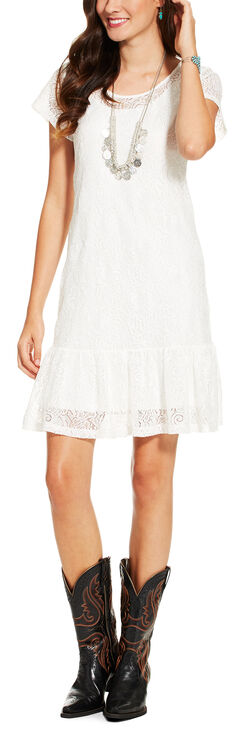 Ariat Women's White Everyday Dress, , hi-res