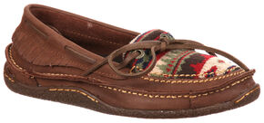 Durango City Women's Santa Fe Low Woven Moccasins, Brown, hi-res