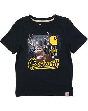 Carhartt Boys' Black Out Hunt Them All Tee , Black, hi-res