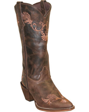 Rawhide by Abilene Boots Women's Embroidered Western Boots - Pointed Toe, Brown, hi-res
