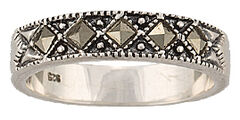 Montana Silversmiths Women's Sparks Will Fly Marcasite Night Wanderer Ring, , hi-res
